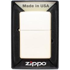 Зажигалка Zippo 216 Regular Cream Matte Бензиновая