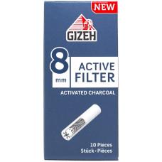 Фильтры для самокруток GIZEH Filters Charcoal 8 мм 10 шт