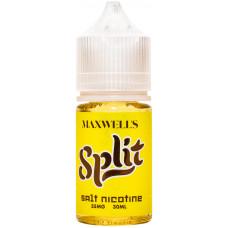 Жидкость Maxwells SALT 30 мл SPLIT 35 мг/мл Тёплый бананово-кокосовый мусс