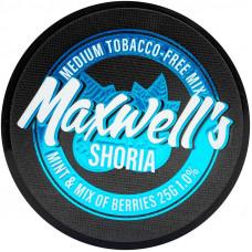 Кальянный Maxwells 25 гр Medium Shoria Мята и лесные ягоды 1%