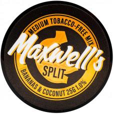 Кальянный Maxwells 25 гр Medium Split Бананы и кокосы 1%