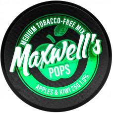 Кальянный Maxwells 25 гр Medium Pops Яблоко и киви 1%