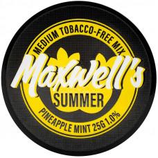 Кальянный Maxwells 25 гр Medium Summer Мятный ананас 1%