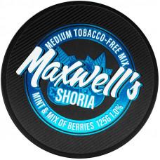 Кальянный Maxwells 125 гр Medium Shoria Мята и лесные ягоды 1%