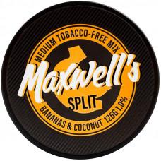 Кальянный Maxwells 125 гр Medium Split Бананы и кокосы 1%