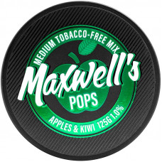 Кальянный Maxwells 125 гр Medium Pops Яблоко и киви 1%