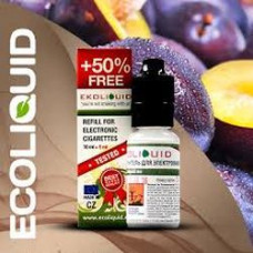 Жидкость EcoLiquid 15 мл Слива 0 мг/мл