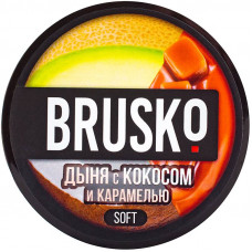 Смесь Brusko 50 гр Soft Дыня Кокос Карамель (кальянная без табака)