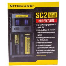 Зарядное устройство Nitecore SC2 Supercharger 2x (универсальное для всех аккумуляторов)