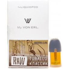 Картриджи Von Erl Raw Tobacco 24 мг/мл (Табак) 1шт