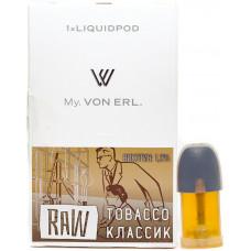 Картриджи Von Erl Raw Tobacco 12 мг/мл (Табак) 1шт
