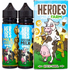 Жидкость Heroes 2*60 мл Milk Farm: Milk Cookie Cocoa Milk 3 мг/мл