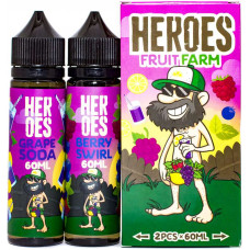 Жидкость Heroes 2*60 мл Fruit Farm: Grape Soda Berry Swirl 3 мг/мл