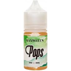 Жидкость Maxwells 30 мл Pops 3 мг/мл Кисло-сладкая жвачка с киви и яблоком
