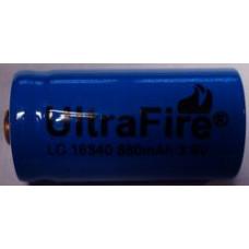 Аккумулятор 16340 Ultrafire (CR123A) 880 mAh 3.6V незащищенный