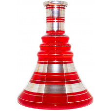 Колба Стекло Красная h=30 см В001