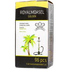 Уголь Royal Moasel Golden 96 кубиков 1кг Кокосовый