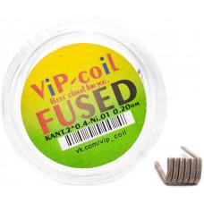 Спирали Vip Coil 2 шт Fused Clapton K2*0.4+ Ni0.1 0.20 Ом d=3мм