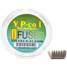 Спирали Vip Coil 2 штTriple Fused Clapton K3*0.4+ Ni0.1 0.15 Ом d=3мм