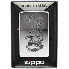 Зажигалка Zippo 205 Boat Satin Chrome Бензиновая