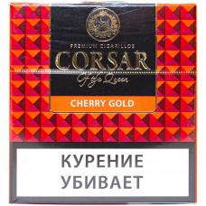 Сигариллы CORSAR Пачка 10шт 84мм  Cherry Gold Золотая Вишня (CORSAR Of The Queen Королевский Корсар)