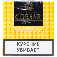 Сигариллы CORSAR Пачка 10шт 84мм  Vanilla Ваниль (CORSAR Of The Queen Королевский Корсар)