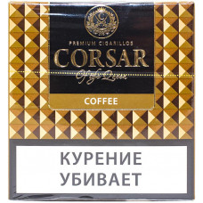 Сигариллы CORSAR Пачка 10шт 84мм  Coffee Кофе (CORSAR Of The Queen Королевский Корсар)