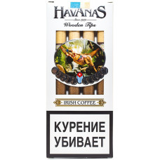 Сигариллы HAVANAS Tips Irish Coffee (Ирландский кофе) с мундштуком 4 шт