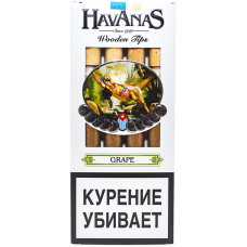 Сигариллы HAVANAS Tips Grape (Виноград) с мундштуком 4 шт