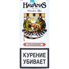 Сигариллы HAVANAS Tips Strawberry (Клубника) с мундштуком 4 шт
