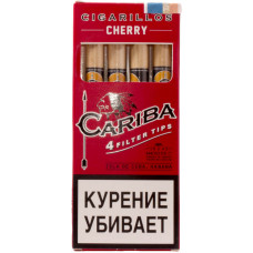 Сигариллы Cariba Filter Tips Cherry (Вишня) с мундштуком 4 шт