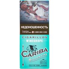 Сигариллы Cariba Filter Tips Winegrape (Винный) с мундштуком 4 шт