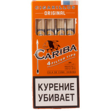 Сигариллы Cariba Filter Tips Original (Оригинал) с мундштуком 4 шт