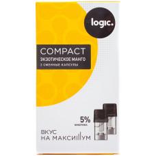 Logic Compact Pods Экзотическое манго 5% 1.6 мл JTI Картридж Капсулы 2 шт