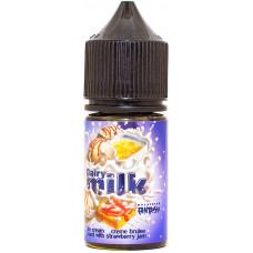 Жидкость Dairy Milk Salt 30 мл Ice Cream Cream Brulee Toast Strawberry Jam 55 мг/мл