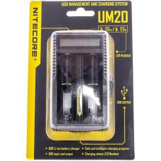 Зарядное устройство Nitecore UM20 Intellicharger 4.2V 2x (универсальное для всех аккумуляторов)