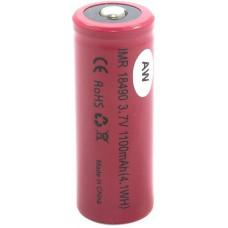 Аккумулятор 18490 AW 1100 mAh 3.7V незащищенный (выпуклый с пимпочкой) Li-Ion