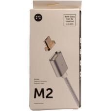 Зарядное устройство Магнит MicroUSB<-USB 5V серебро (магнитный кабель)
