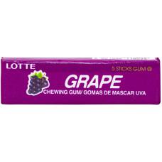 Жвачка Lotte Grape (5 пластинок) (Жевательная резинка)