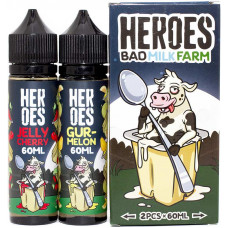 Жидкость Heroes 2*60 мл Bad Milk Farm: Jelly Cherry Gur Melon 3 мг/мл