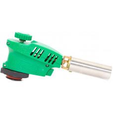 Горелка газовая с пьезоподжигом зеленая KOVICA KS-1005