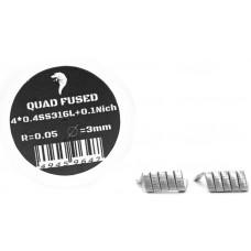 Спирали Vape n Coils 2шт Quad Fused 0.05 Ом 4*0.4SS316+0.1Nich