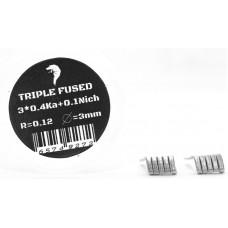Спирали Vape n Coils 2шт Triple Fused 0.12 Ом 3*0.4SS316+0.1Nich