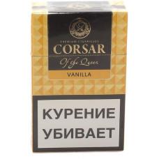 Сигариллы CORSAR Пачка 20шт 84мм Vanilla Ваниль (CORSAR Of The Queen Королевский Корсар)