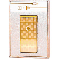 Зажигалка Электронная microUSB Jin Lun JL 301 Золото