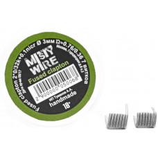 Спирали Misty Wire Fused Clapton 2*0.32кант +0.1нихр 33мм 0.76/0.36  7витков (2шт)