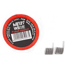 Спирали Misty Wire Fused Clapton 2*0.5ss +0.1nicr 3mm 0.18/0.09  5 витков (2шт)