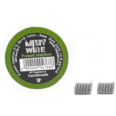 Спирали Misty Wire Fused Clapton 2*0.5k +0.1nicr 3mm 0.24/0/12  6 витков (2шт)
