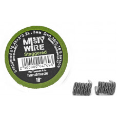 Спирали Misty Wire Staggered 2*0.4k +3*0.2k 3mm 0.36/0.18  5 витков (2шт)