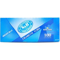 Гильзы сигаретные SnB Brigth Blue с фильтром 100 шт